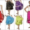 product - Siam Secrets Tie Dye Wrap Skirt Tiered Gypsy Beach Wrap